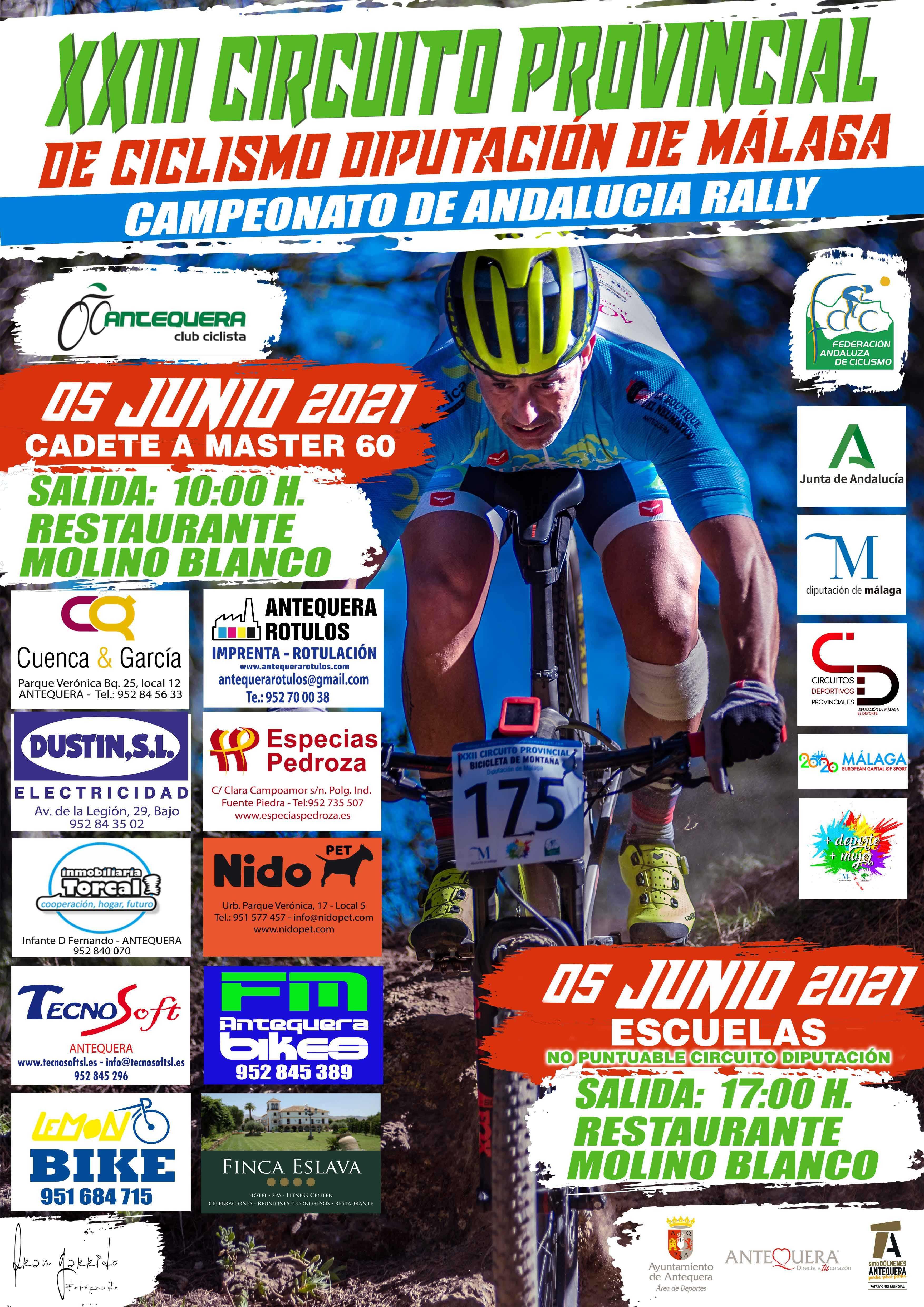 Recorridos y fecha de apertura inscripciones Campeonato Andalucía BTT XCO 2021 de Antequera