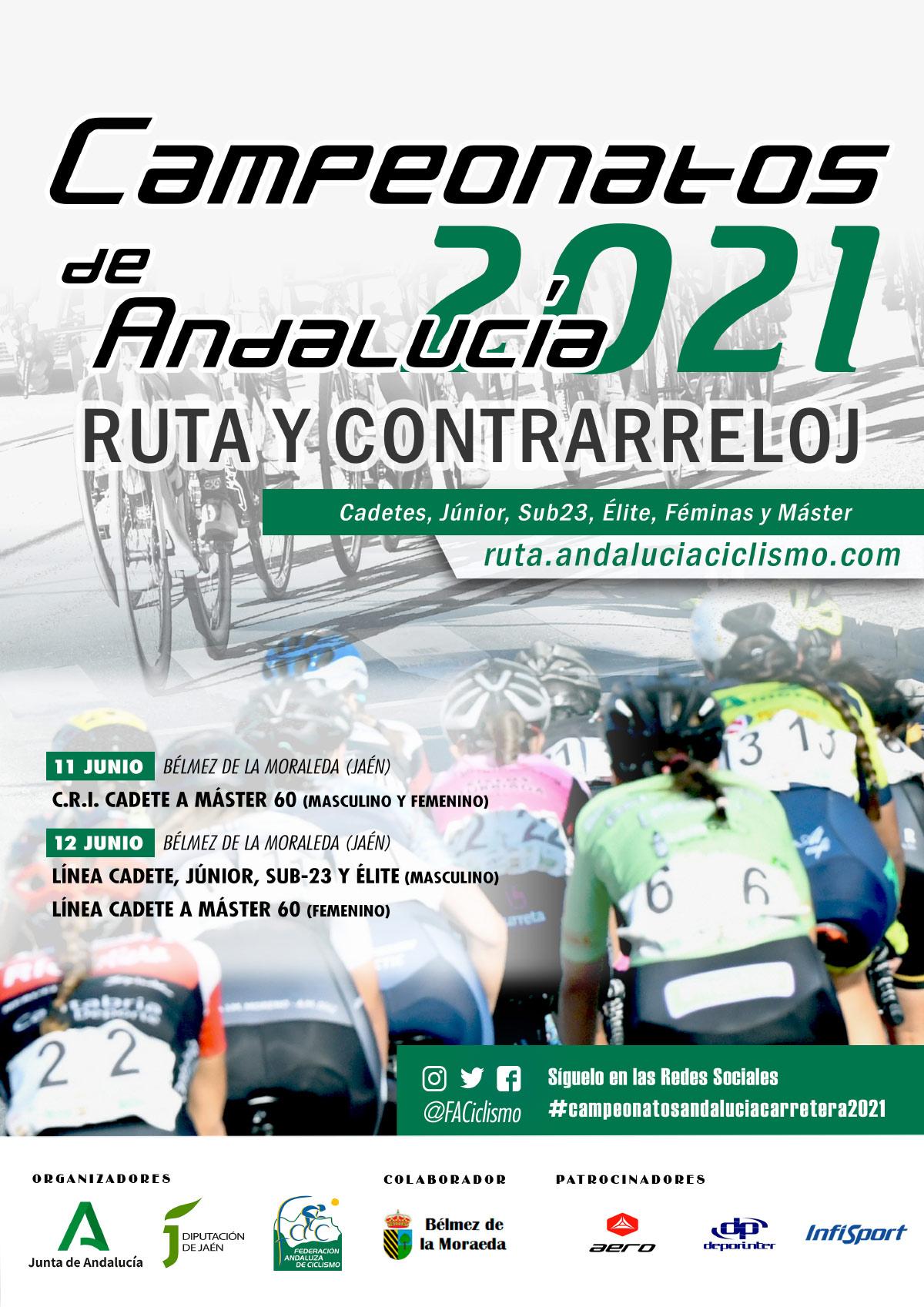 Confirmados recorridos, horarios e inscripciones del Campeonato Andalucía CRI/Ruta en Bélmez de la Moraleda