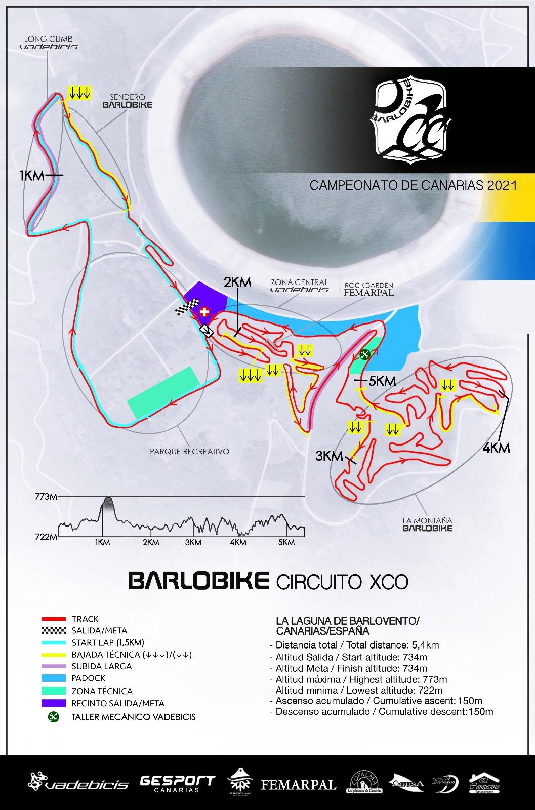 El Campeonato de Canarias de XC 2021-XC Barlobike , el proximo 12 de junio de 2021