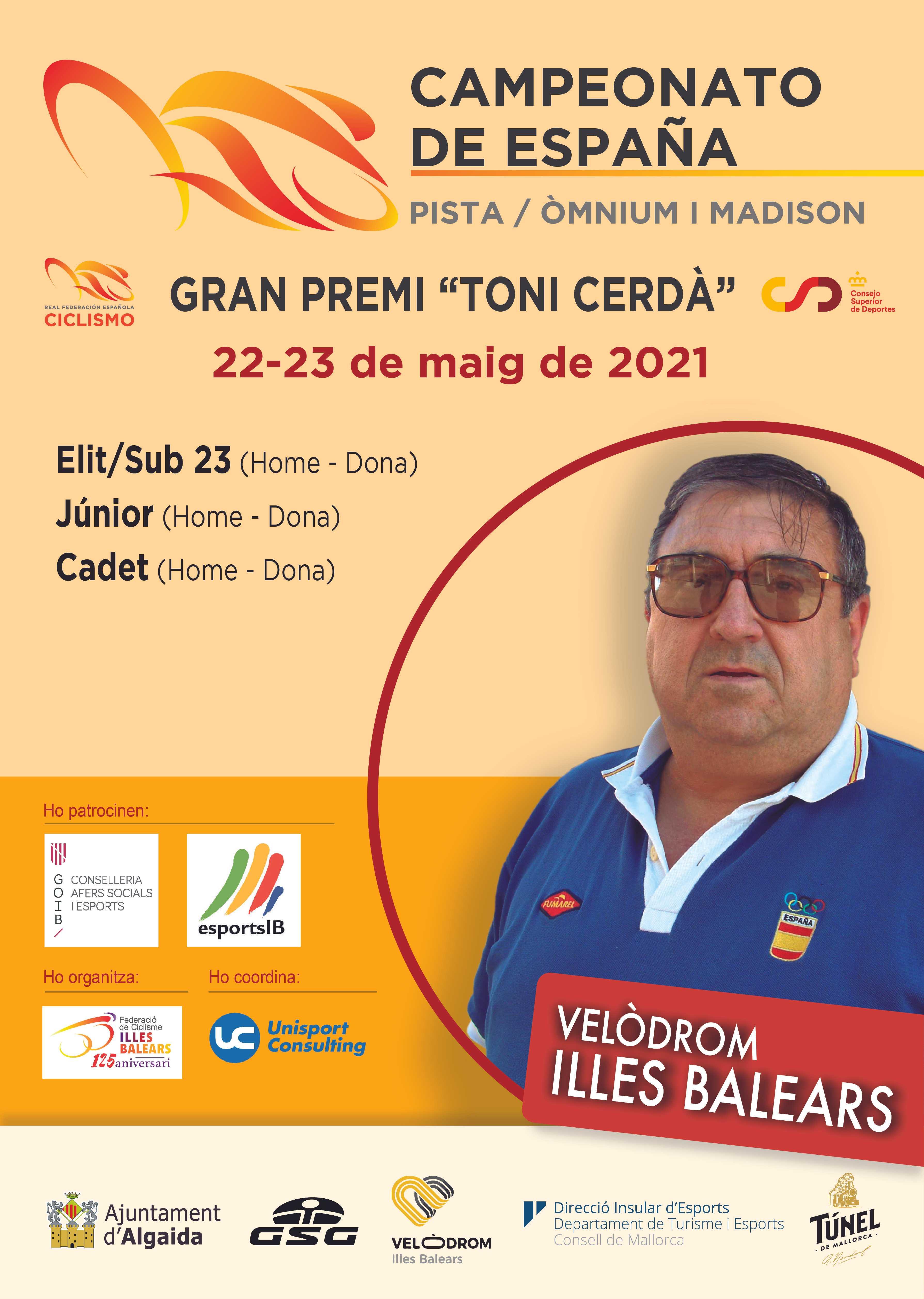 Convocatoria de la Selección Andaluza para los Campeonato de España de Pista Madison y Omnium 2021
