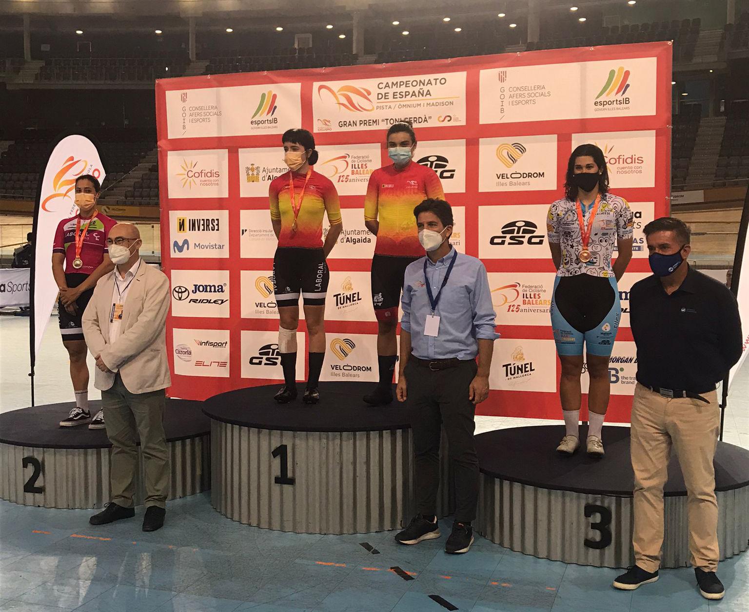 Cuatro medallas y dos títulos nacionales, excelente cosecha madrileña en los Campeonatos de España de ómnium y madison