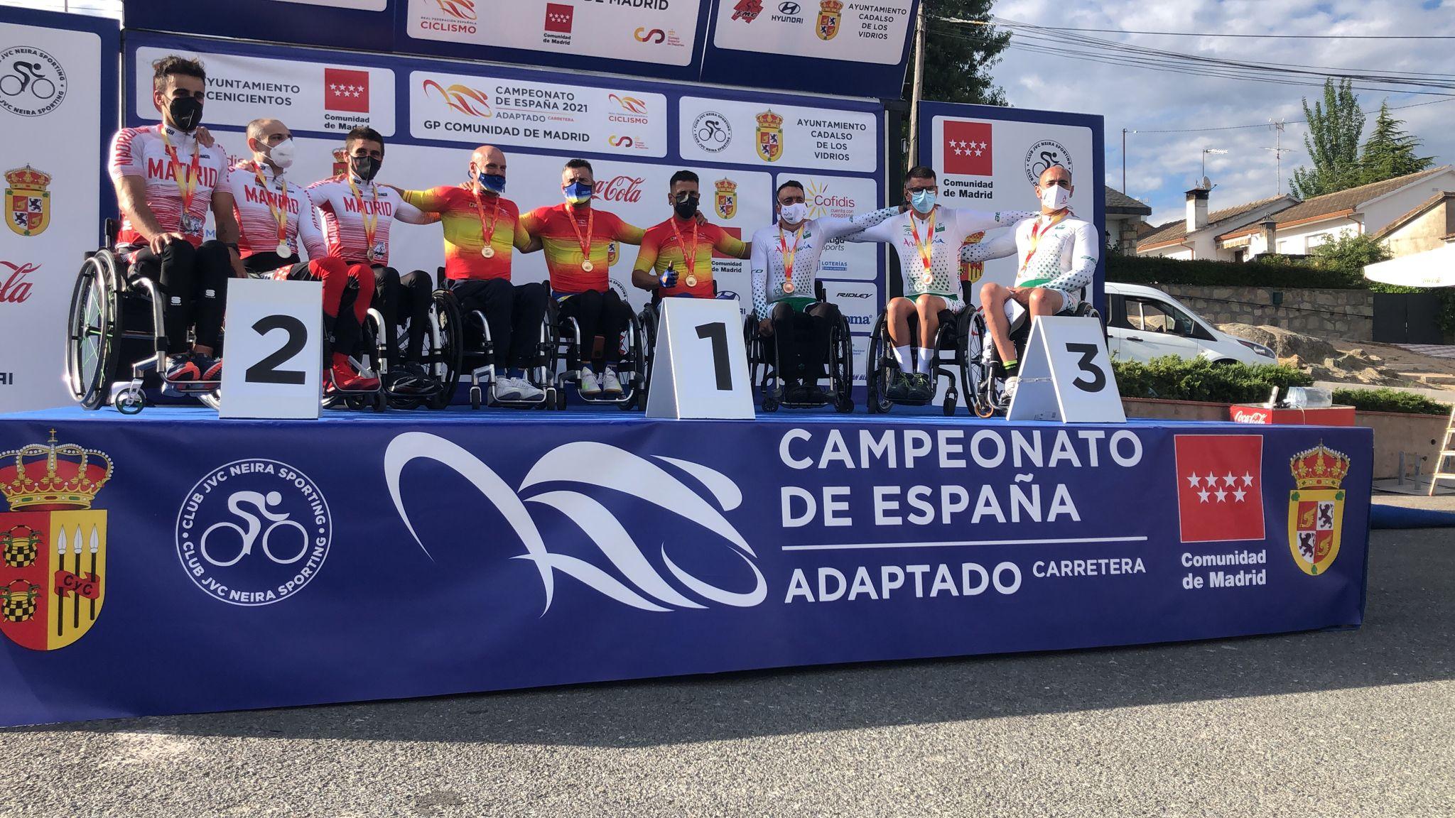 Cinco medallas para la Selección Madrileña en unos Nacionales de Ciclismo Adaptado marcados por la tragedia