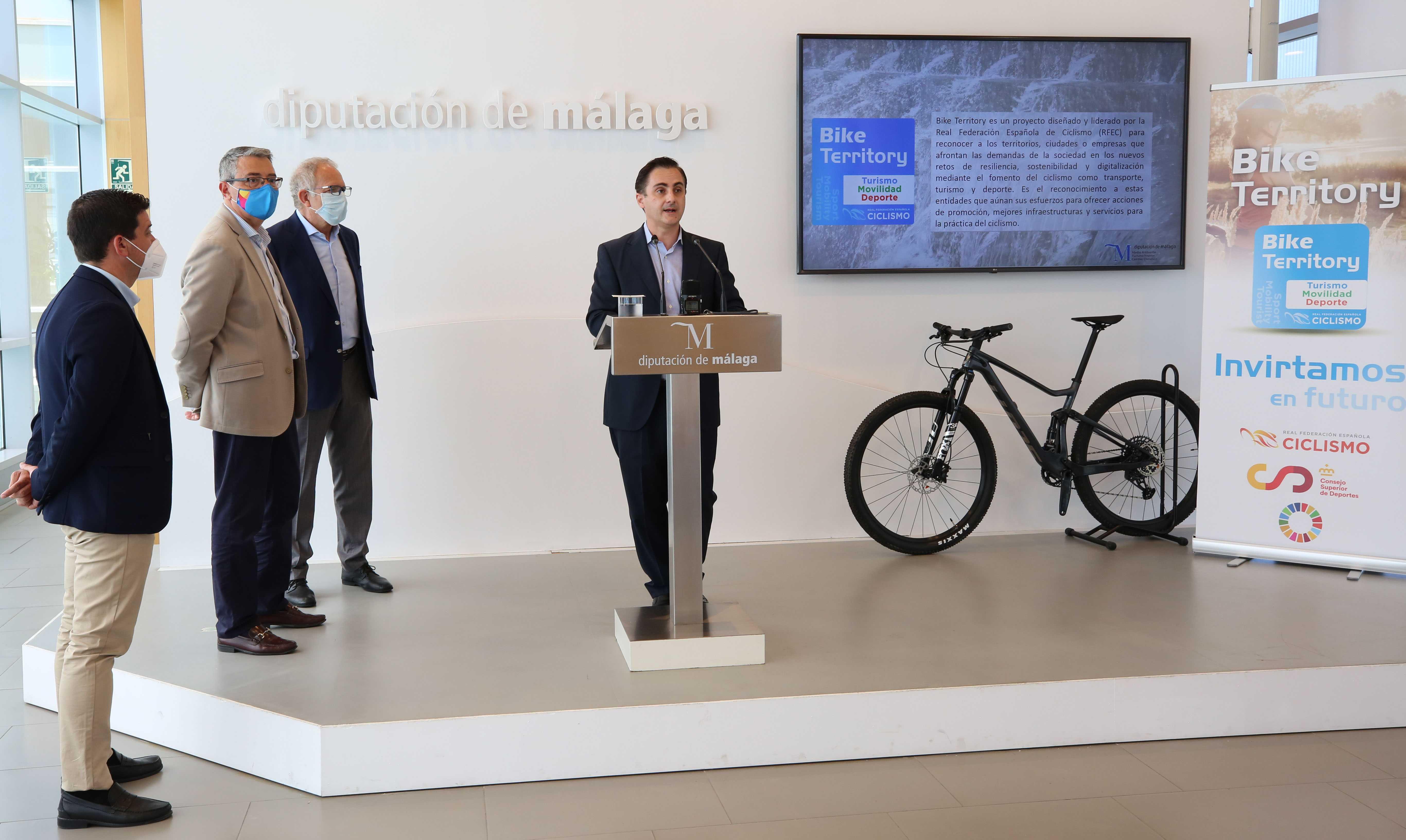 La Diputación de Málaga, pionera en implementar Bike Territory