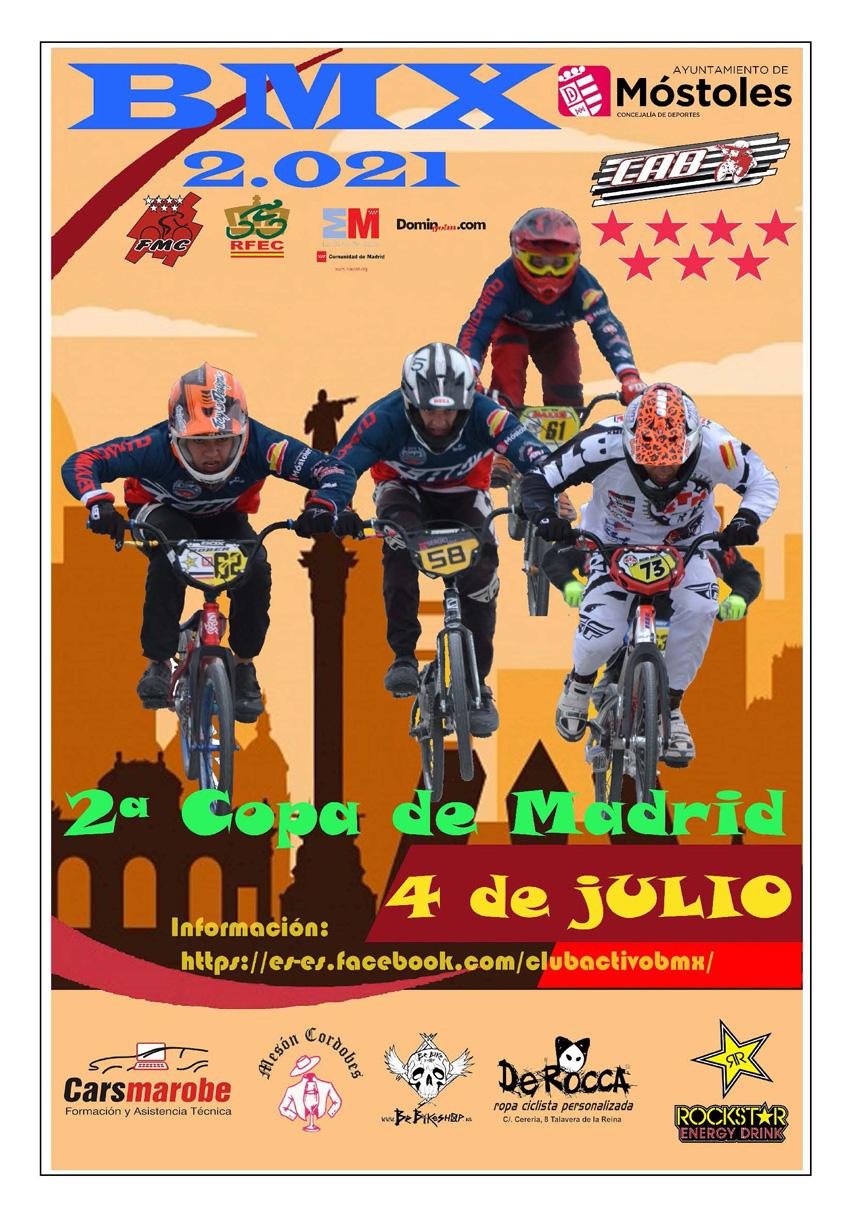 Segundo asalto de la Copa de Madrid de BMX el 4 de Julio en Móstoles