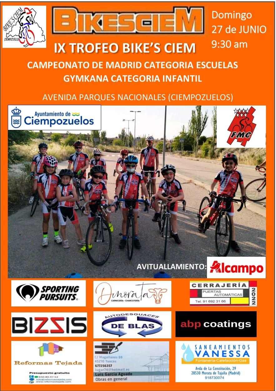 Los Campeonatos de Madrid de ruta para Escuelas se juegan este 27 de Junio en Ciempozuelos