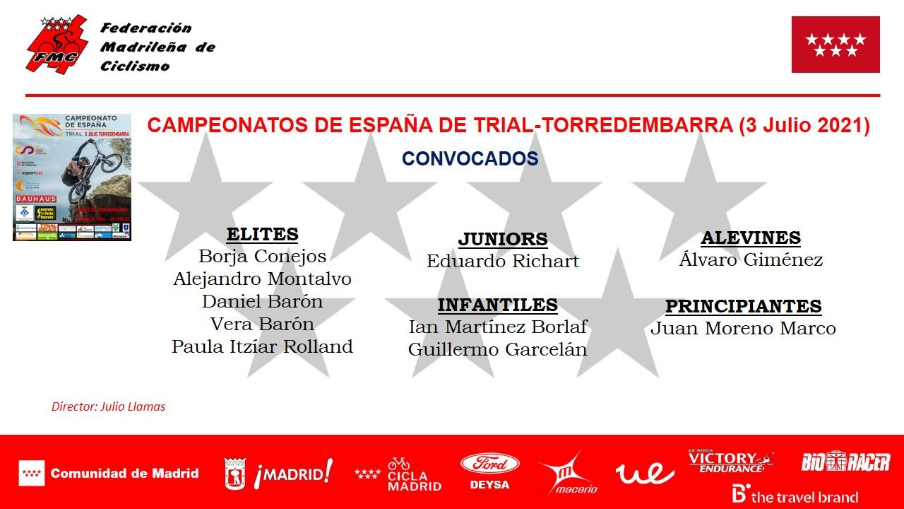 Una potente Selección Madrileña de trial aspira a todo en los Campeonatos de España de Torredembarra