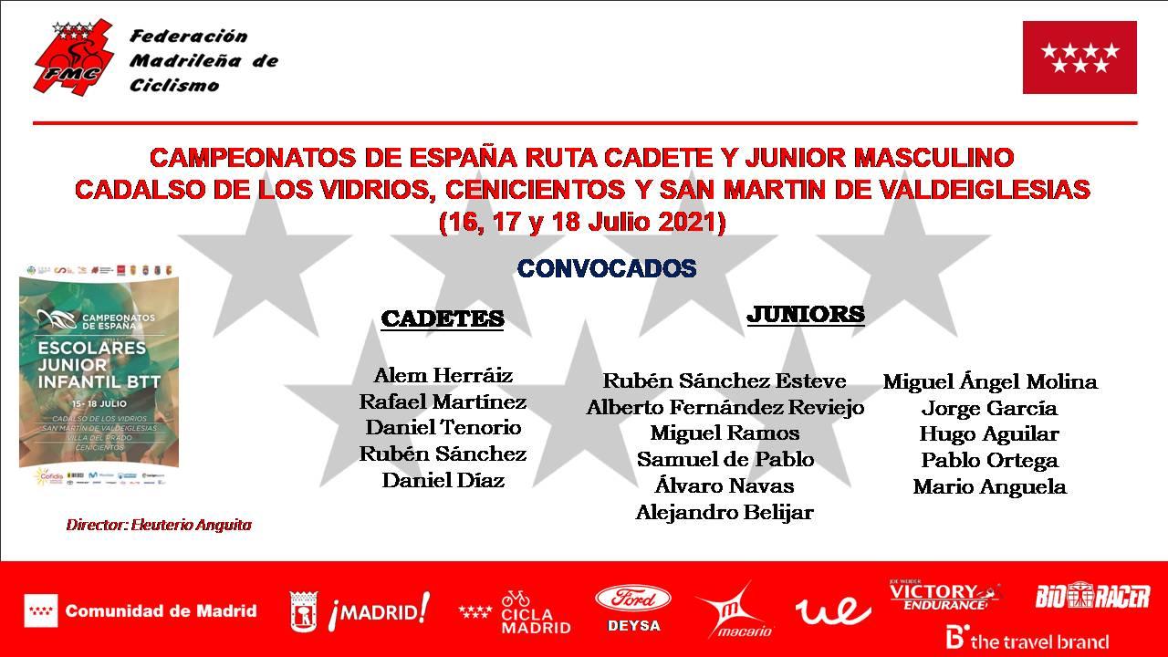 La Selecciones Madrileñas de Escuelas y Juniors, a por todas en los Campeonatos de España