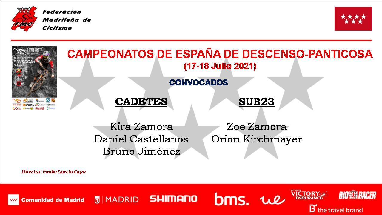 Con una Selección Madrileña de garantías para los Campeonatos de España de Descenso
