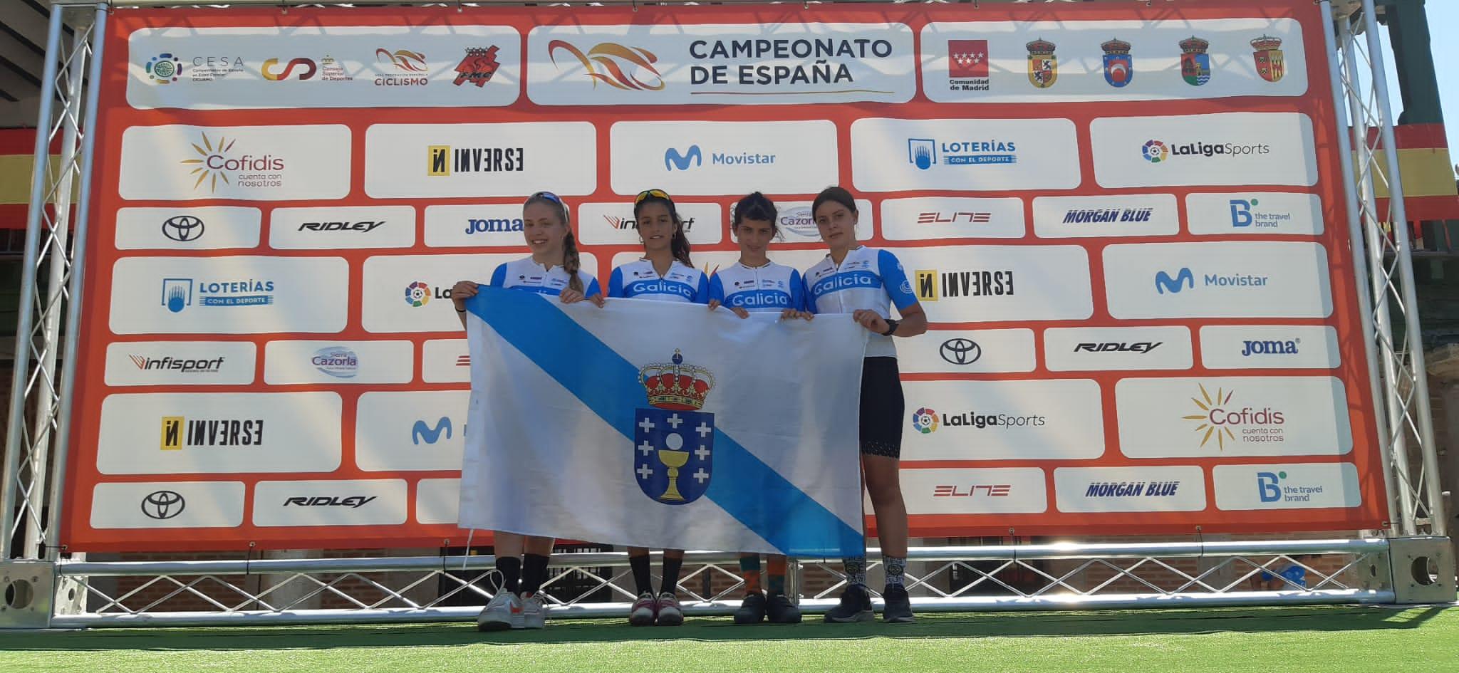 A Selección de Galicia pecha con dous bronces femininos no BTT os campionatos de España escolares