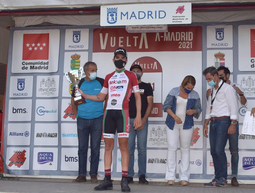 José Marín (Telco´m), primer líder de la Vuelta a la Comunidad de Madrid sub23