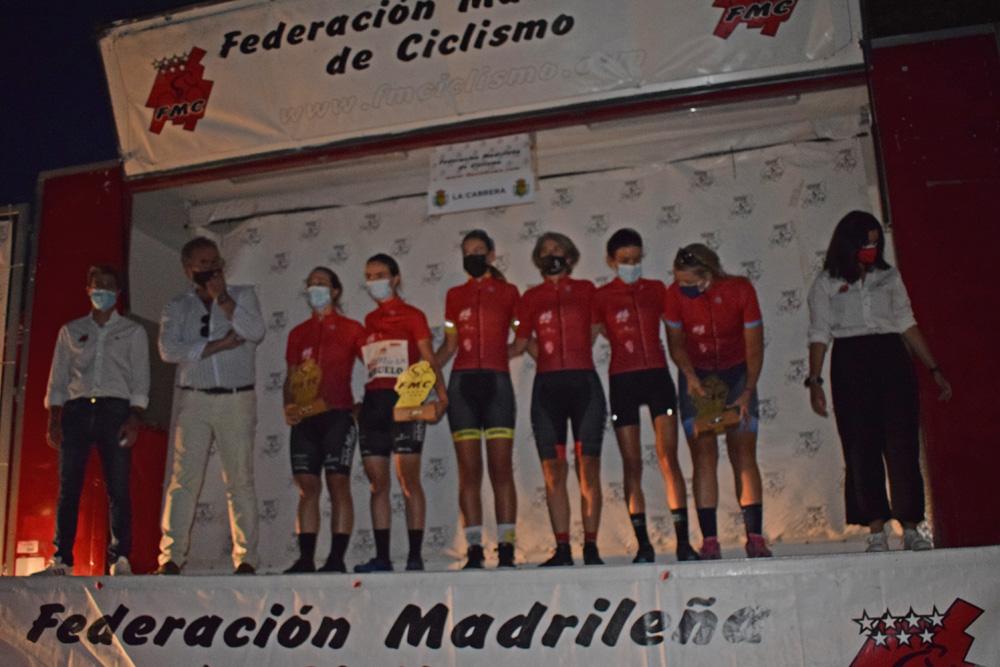 La Cabrera coronó este sábado a las primeras ganadoras de la Liga Interautonómica de Ciclismo Femenino (ACTUALIZADA)