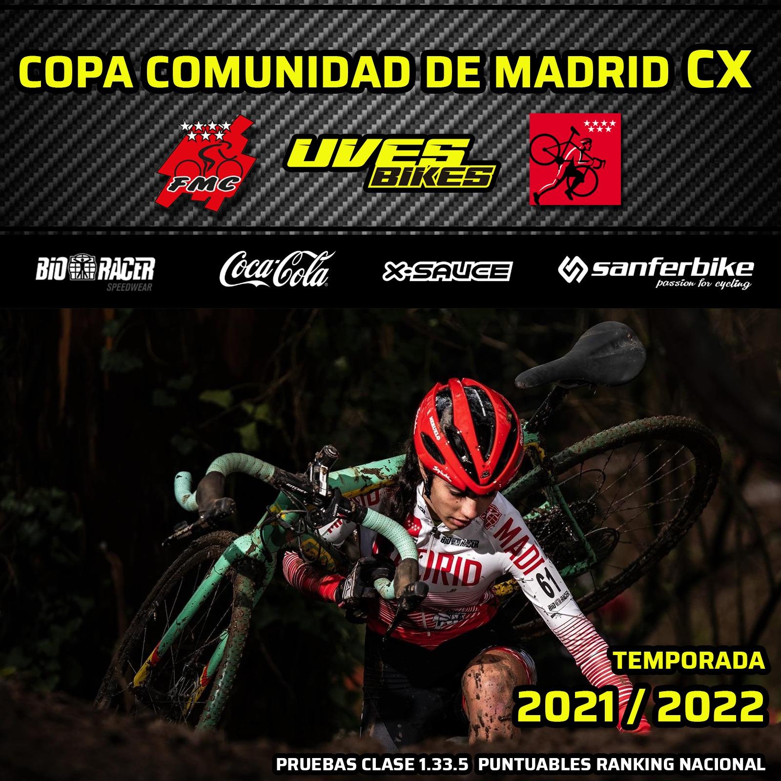 Lista la web con toda la información de la XVII Copa Comunidad de Madrid de ciclocross 2021-22