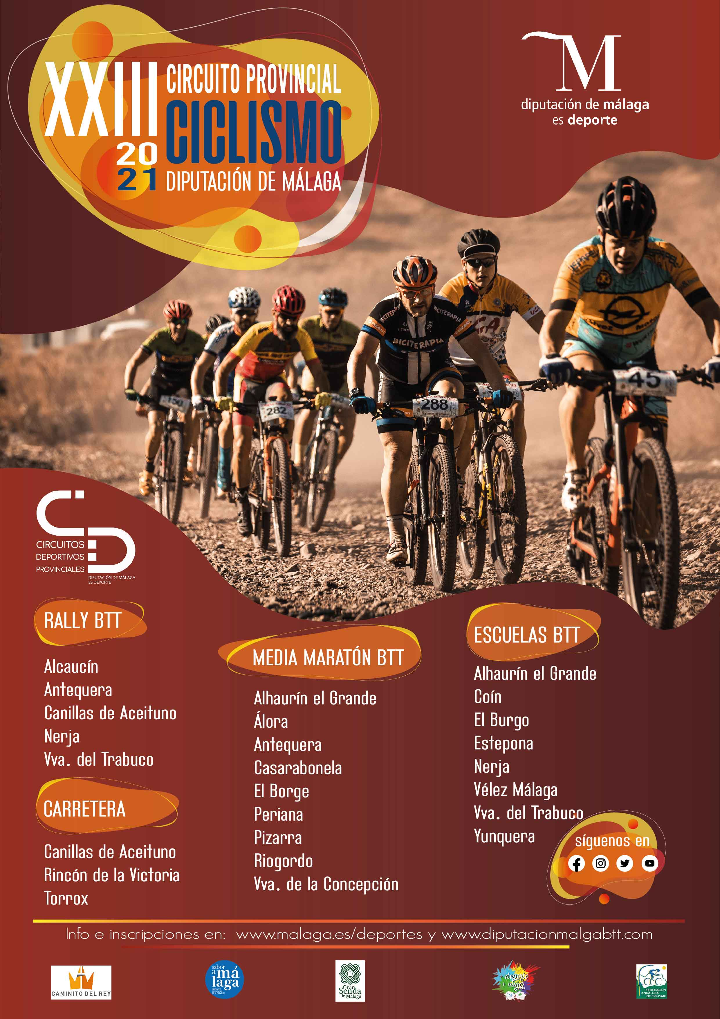 Apertura de inscripciones para el Campeonato Andalucía BTT Media Maratón 2021