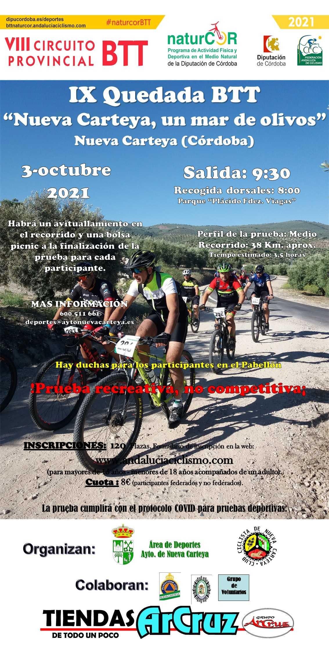 La marcha 'Un mar de olivos' retomará en Nueva Carteya el NaturCor