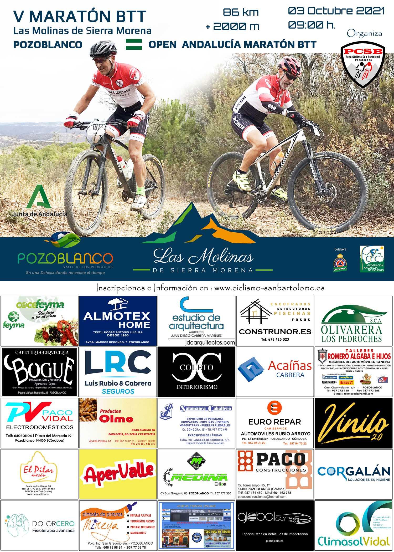 Las Molinas de Sierra Morena retoman el Open de Andalucía XCM 2021