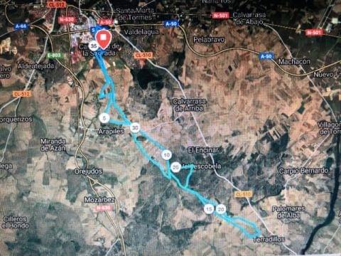 Previa Quedada WIB Carbajosa RUTA LARGA 40km