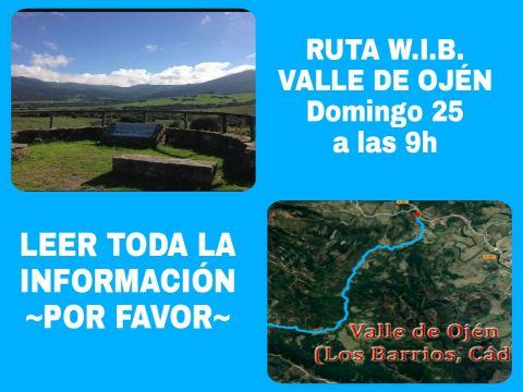 RUTA W.I.B. VALLE DE OJÉN (Desde Facinas)